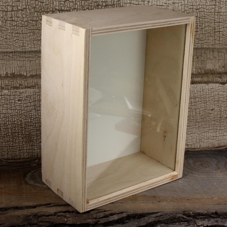 Ikea shadow box unfinished box 7 1 2 x 5 1 2 glass wood for Ikea display box