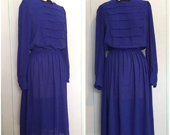 Blue Collared Dress Size