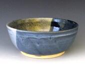 Small Serving Bowl. Navy Blue. Blue Gray. Indigo. Cobalt. Light Blue. Charcoal Gray.