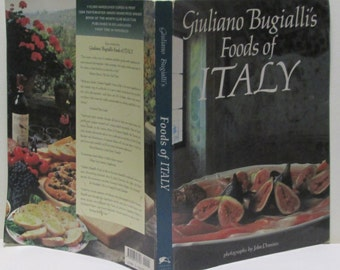 Giuliano Bugialli Italian Cookbook Award Winner Foods of Italy Color Illustrations