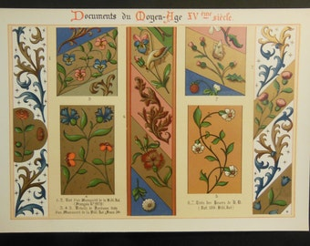 Antique Book Plate of Ornaments from 1902