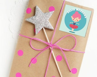Set of 25 Personalized Ballerina Enclosure Cards Contact Cards Mommy Cards or Gift Tags