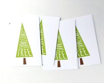 Christmas Gift Tags, O Christmas Tree Hang Tags, Holiday Tags for Christmas Party Favors, Christmas Treat Bags, Xmas Tags, Present Tag