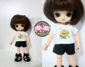 Felix brownie / pukipuki / Lati white sp / Obitsu 11 cm T-shirt