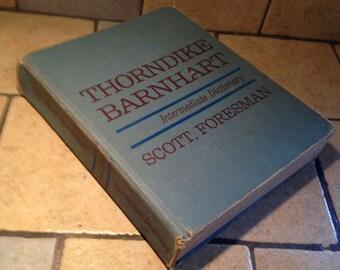 1971 Thorndike Barnhart Intermediate Dictionary by Scott Foresman