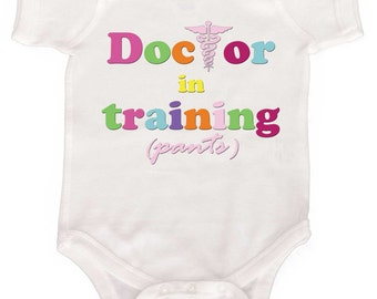 Doctor in Training Funny Baby Girl Bodysuit Infant Tees Toddler tshirts  Newborn One Pieces
