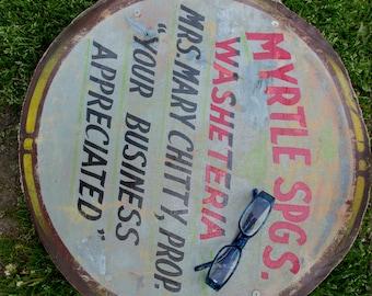 Antique Advertising Sign, Washetera Myrtle Springs VA