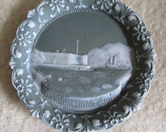 c1900 Fort Point, Golden Gate San Francisco Souvenir Plaque