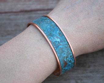 Boho Bracelet, Patina Copper Bracelet, Verdigris Bracelet