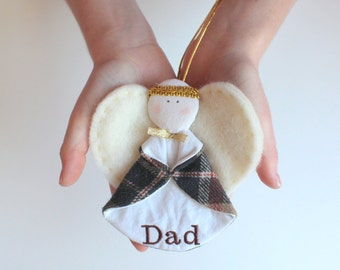 Angel Ornament - Memory Ornament - Made from YOUR Shirt - Custom