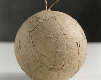 Paper Mache Wrinked Ball Ornament 80mm - Pack of 9