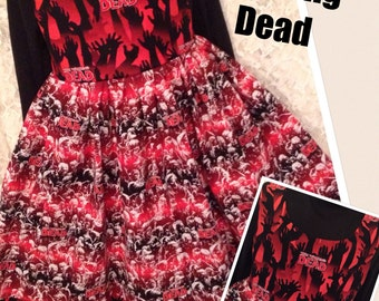 The Walking Dead * classic jumper style dress for child CUSTOM SIZES 2 3 4 5 6 7 8 9 10 12 14 your choice - sewnbyrachel
