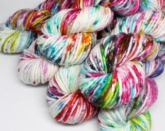 Big Rad Bulky - Hand Dyed Yarn - SW Merino/Nylon - 75 Yards - Graffiti