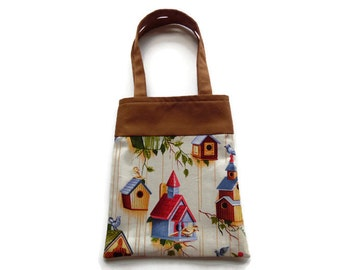 Fabric Gift/Goodie Bag - Birdhouses