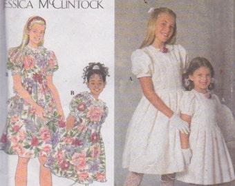 Simplicity 7462 Girls' Dress-Special Occasion Sizes 7, 8, 10, 12 Jessica McClintock Design UNCUT Pattern