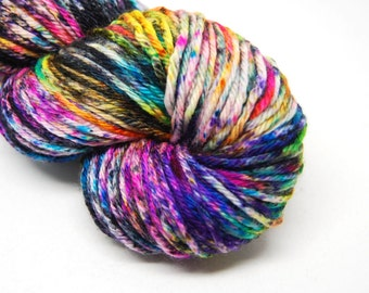 "Indie Rock Worsted Yarn - ""Supernova"" - Handpainted Superwash Merino - 218 yards"