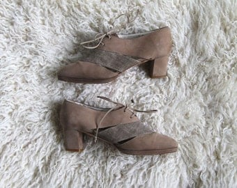 city and country -- vintage 80s cutout shoes from italy size 7
