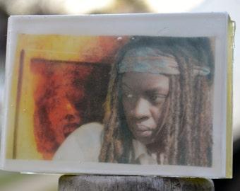 Walking Dead Graphic Art Soap Bar - Michonne Rosita Sasha - Novelty Soap - AN AJSWEETSOAP EXCLUSIVE