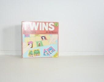 Vintage 1975 Twins Memory Game