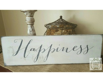 Handpainted Happiness sign