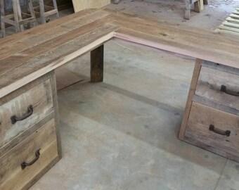 Reclaimed Barn Wood Corner Desk FREE SHIPPING -RBWCD1300F
