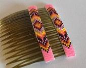 Beaded Hair Combs - Navajo-Beaded - Native American