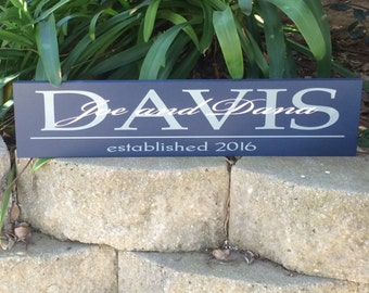 Personalized Last Name wood sign