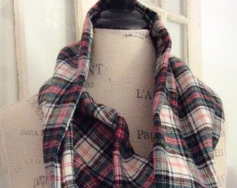 for the love of plaid flannel cowl
