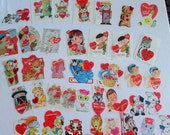 Valentines in a Big Way Large Lot of 38 Small 1950s to 1970s Cards in Vintage Valentines Lot No 87 All Subjects Some Duplicates 7 Unused