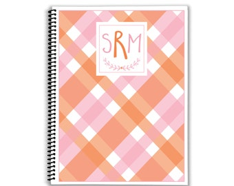Personalized Planner - Mad About Plaid