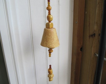 SALE Porch garden pottery wind chime bell decoration