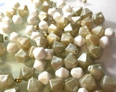 Vintage 1960's Beads - Champagne Mix - Destash Beads.
