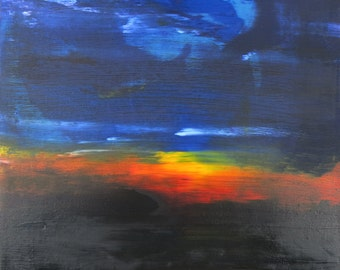 Joy Of Dreams oil painting abstract landscape by artist Jean Macaluso