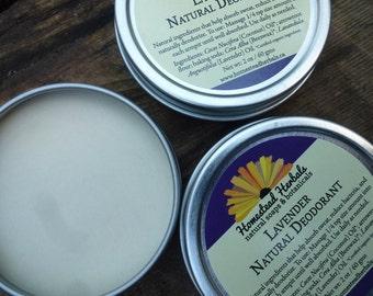 All Natural Deodorant - Lavender / Natural deodorant lotion / 2 oz Travel Tin