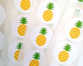 96 pineapple stickers. Pineapple seals. Envelope seals pineapple  fruit sticker. Pineapple envelope seal. Wedding invite seal