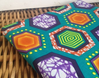 African wax print. Hexagons Six yards of African print. Wax print fabric. African wax fabric. Whole bolt