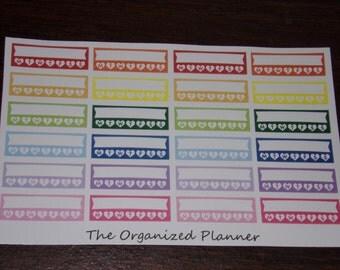 Stackable Weekly Habit Tracker Stickers for your Erin Condren Life Planner / Happy Planner / Bullet Journal