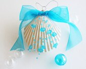 "BEACH DECOR CHRISTMAS Ornament, Nautical Decor Christmas Ornament, Shell Christmas Ornament, Seashell Ornament, Coastal Ornament, 5"""
