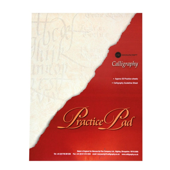 Calligraphy Practice Pad 50 Sheets From Arcaneobjects On