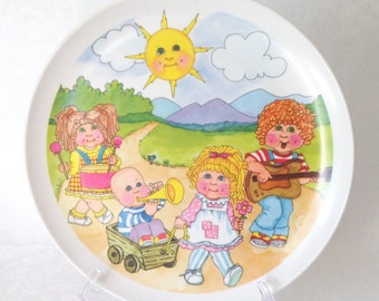 Cabbage Patch Kids Melamine Plate Early 1980s