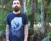 Men's ELEPHANT on a bike t shirt american apparel xs S M L Xl xxl