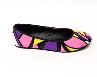 Sequin | Multi Colored Swirls Patterned Ballet Flats Slippers Shoes by Princess Pumps