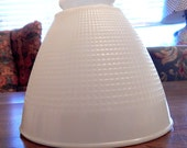 Waffle Glass White Milk Glass Torchiere Diffuser Shade - 6 inch