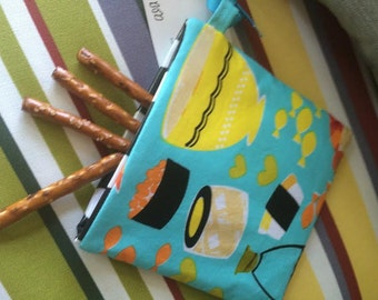 Sushi, Snack  pouch, Velcro Pouch, pouch