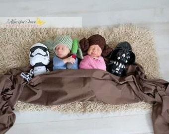 Princess Leia Inspired Baby Hat, photo prop, Baby Halloween Hat