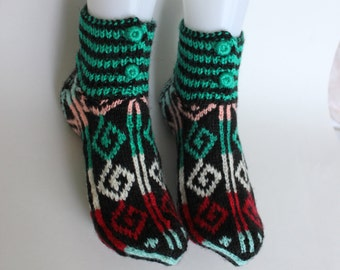 Ready to ship, Handmade Knit Women Socks, winter socks, Handmade warm Winter accessories, women socks 9 inches long, Autumn Accessories