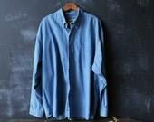 Blue Denim Shirt Mens Size XL Eddie Bauer From Nowvintage on Etsy