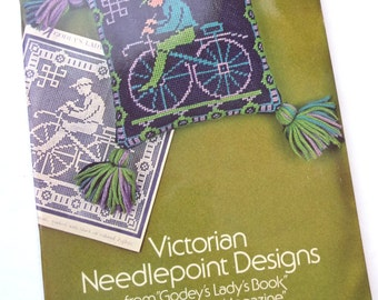 Victorian Needlepoint Designs, Vintage 1975, MOM, Sewing Book, Softcover Book, Charted Patterns, Rita Weiss, Vintage Needlework, Flowers
