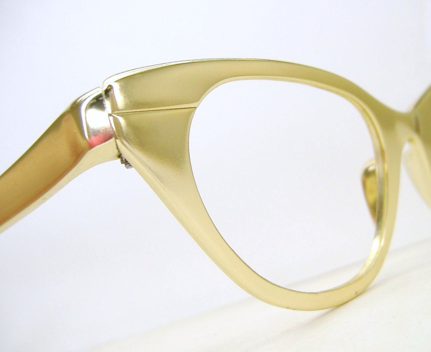 Vintage Gold Tura Cat Eye Glasses Eyeglasses Sunglasses Frame