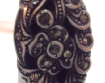 Antique Sterling Silver Marcasite Ring